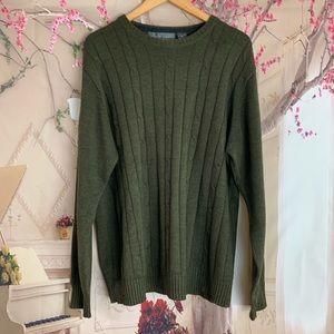 Oscar De la Renta Mens Cable knit Sweater